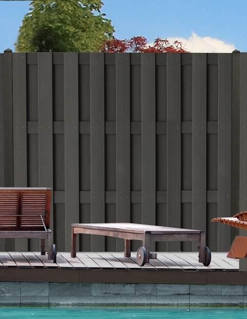 sichtschutzz une aus wpc und polyrattan holz neubauer berlin ihr holzfachmarkt. Black Bedroom Furniture Sets. Home Design Ideas